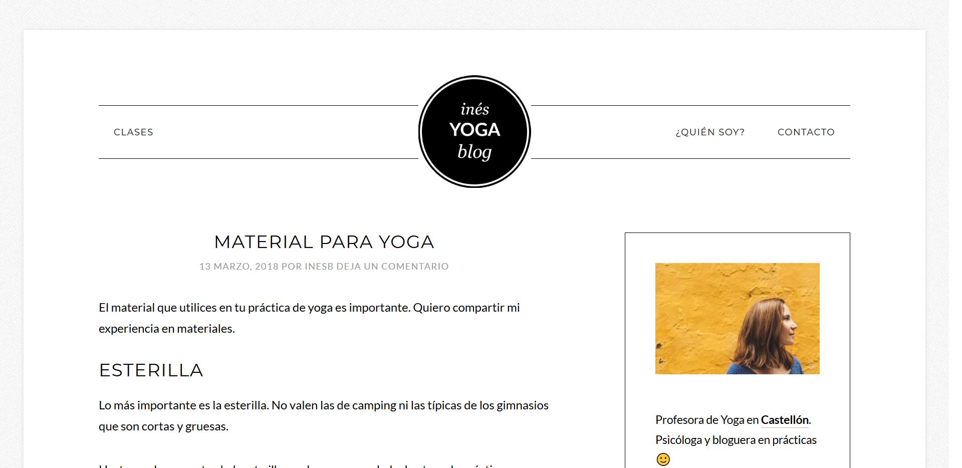 Un blog como carta de presentación: inesb.es